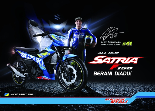 Flyer All New Satria F150 depan